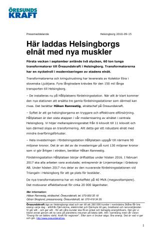 Här laddas Helsingborgs elnät med nya muskler