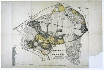 Plan Branitzer Parklandschaft von 1903