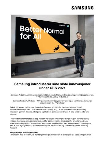 Samsung introduserer sine siste innovasjoner under CES 2021