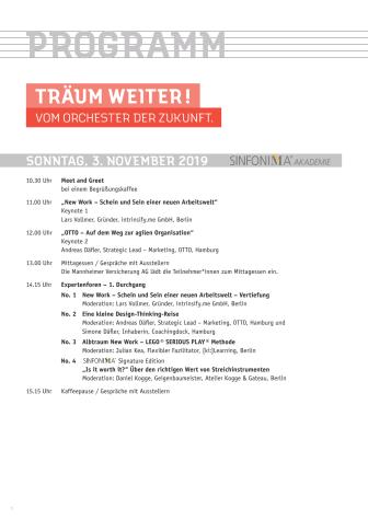 Programm Deutscher Orchestertag 2019