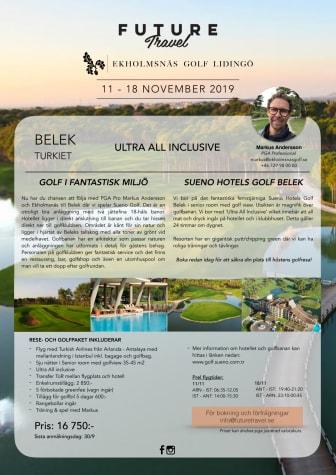 Dags att boka in höstens golfresa tillsammans med Ekholmsnäs Golf Lidingö!