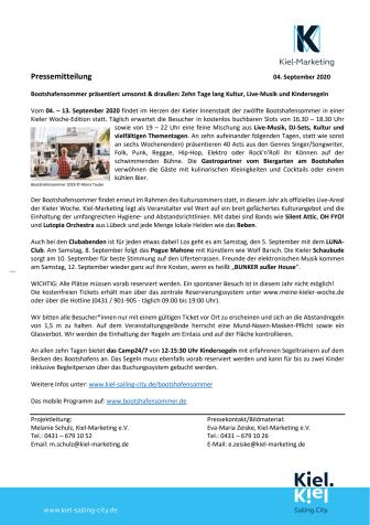 Ein besonderer Bootshafensommer im Rahmen der Kieler Woche 2020