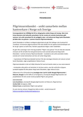 Pilgrimsarmbandet, ett unikt samarbete mellan hantverkare i Norge och Sverige
