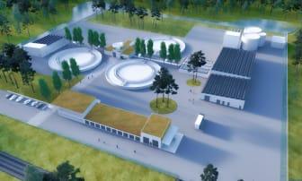 Visionsbild över nytt reningsverk