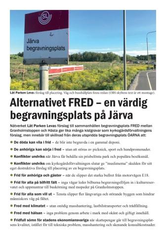 """Begravningsplatsen """"Fred"""" - faktablad"""