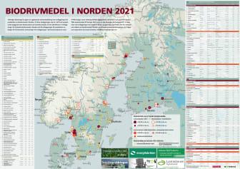 Bioenergis karta: Biodrivmedel i Norden 2021