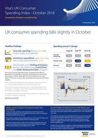 UK Consumer Spending Index October 2018