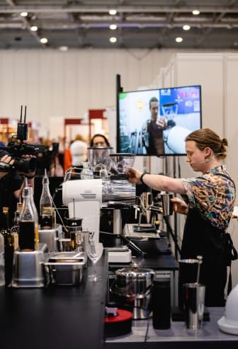 Will Pitts at UK Coffee in Good Spirits championships - Picture credit Oliver Hooson @olvh