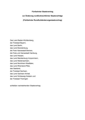 15. Rundfunkänderungsstaatsvertrag