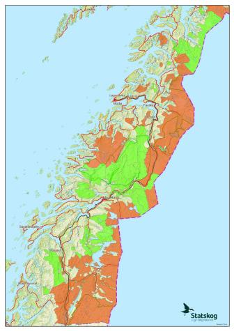 Oversikt over jaktfelt som er åpne for vinterjakt i Nordland