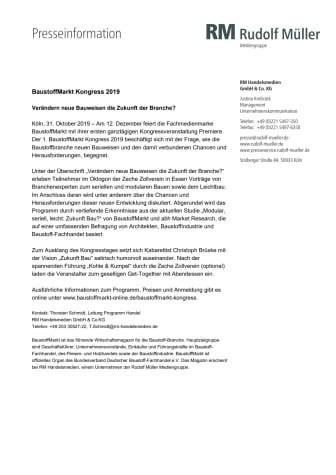 BaustoffMarkt Kongress 2019