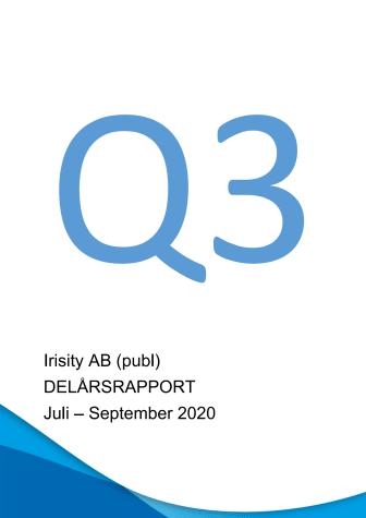 Delårsrapport tredje kvartalet 2020