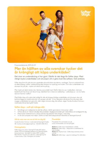 Mer än hälften av alla svenskar tycker det är krångligt att köpa underkläder!