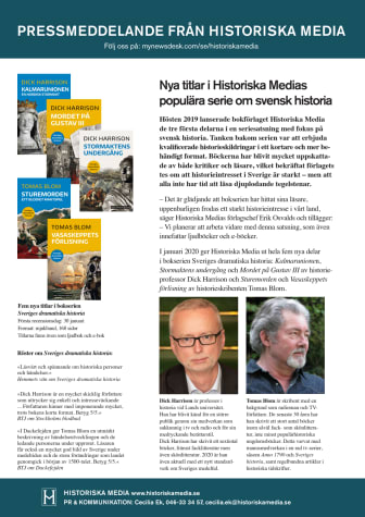 Nya titlar i Historiska Medias  populära serie om svensk historia