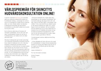 Världspremiär för Skincitys Hudvårdskonsultation online!