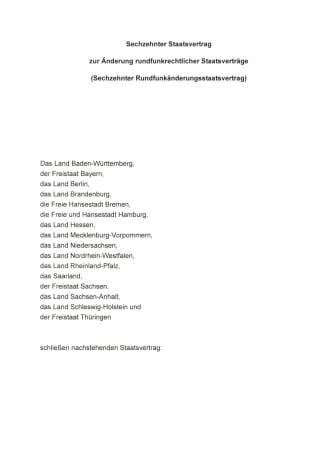 16. Rundfunkänderungsstaatsvertrag