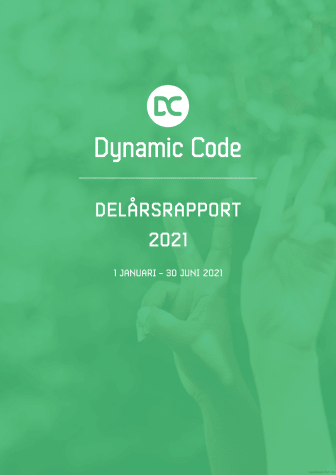 Dynamic Code - delårsrapport 1 januari - 30 juni 2021