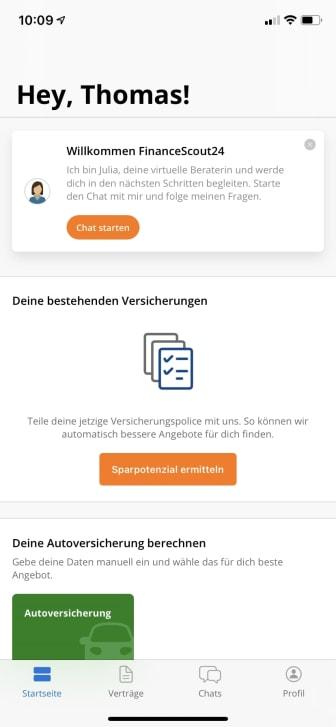 FinanceScout24 Insurance Check App_2