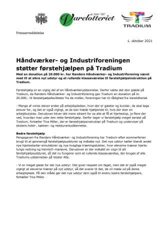 PM_Håndværker- og Industriforeningen støtter førstehjælpen på Tradium.pdf