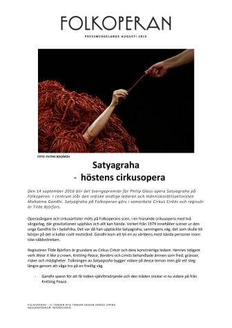 Satyagraha - höstens cirkusoperan