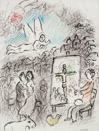 Marc Chagall, L'artiste et l'ange