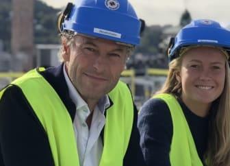 CEO AVA Eiendom Arne Vannebo og Camilla Vannebo, leder miljø og bærekraft