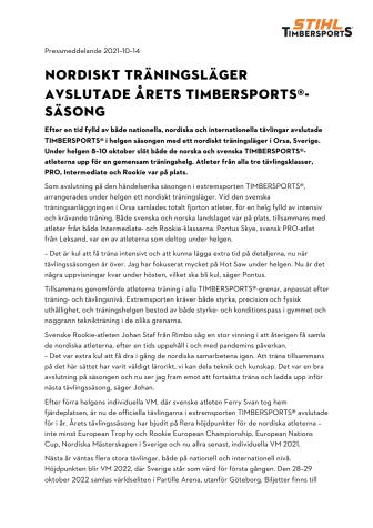 NORDISKT TIMBERSPORTS-LÄGER AVSLUTAR SÄSONGEN.pdf