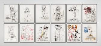 Paul McCarthy, Untitled, 2021, Mixed media på papir.