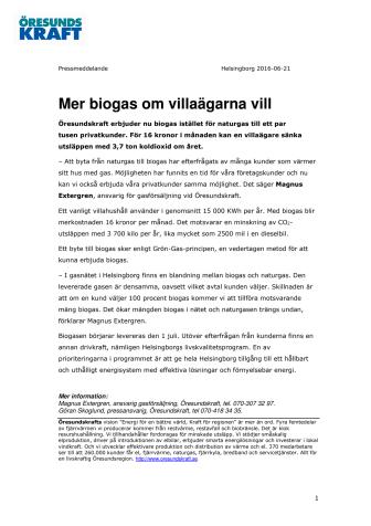 Mer biogas om villaägarna vill