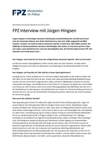 FPZ Interview mit Jürgen Hingsen
