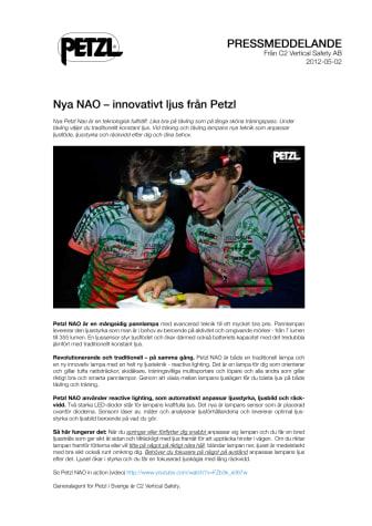 Nya NAO – innovativt ljus från Petzl