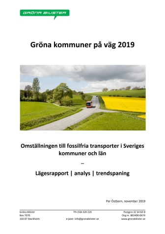 Gröna kommuner på väg 2019