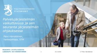 Päivi Hämäläinen: Palvelujärjestelmän vaikuttavuus ja sen seuranta järjestelmän ohjauksessa