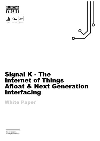 Signal K - A Digital Yacht white paper
