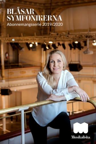 Folder Blåsarsymfonikernas abonnemangsserie 2019-2020