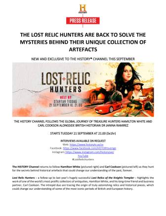 LOST RELIC HUNTERS RETURN TO THE HISTORY CHANNEL_SVE_PRESSMEDDELANDE.pdf