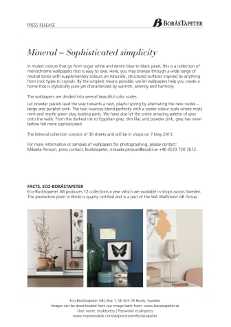 MINERAL - Sophisticated Simplicity