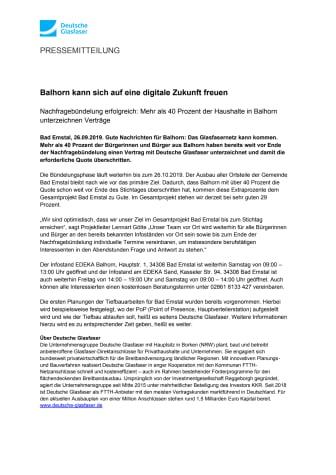 Balhorn kann sich auf eine digitale Zukunft freuen