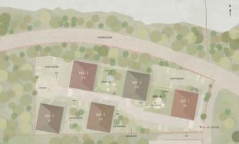 Situationsplan över det nya området i Orminge.
