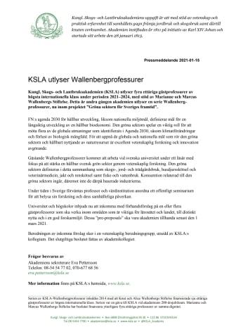 Pressmeddelande KSLA-Wallenbergprofessur 2021.pdf