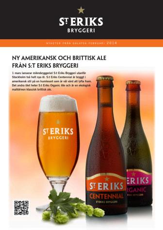 Ny amerikansk och brittisk ale från S:t Eriks Bryggeri