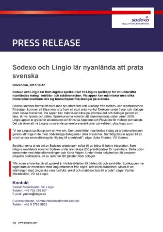 Sodexo och Lingio lär nyanlända att prata svenska