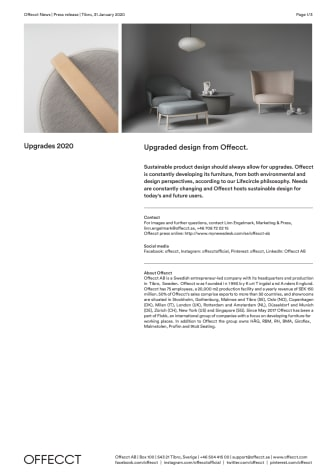 Offecct Press release Upgrades 2020_EN