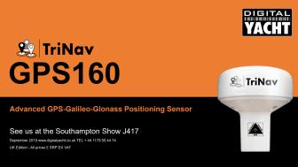Digital Yacht introduce new GPS160 TriNav Positioning Sensor