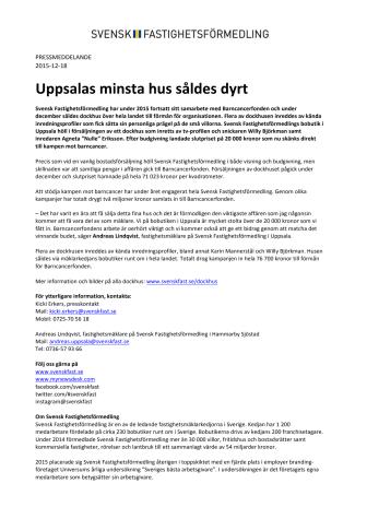 Uppsalas minsta hus såldes dyrt