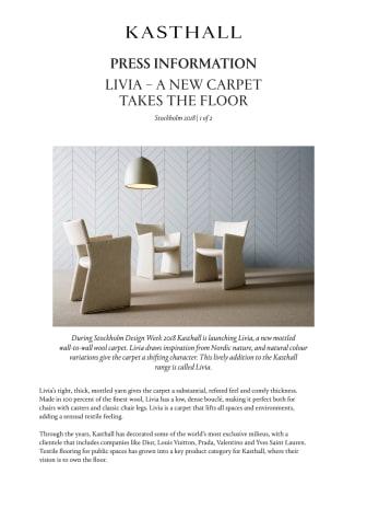 LIVIA – A NEW CARPET TAKES THE FLOOR