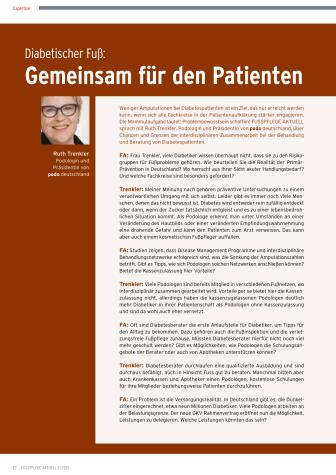 Diabetischer Fuß: Gemeinsam für den Patienten