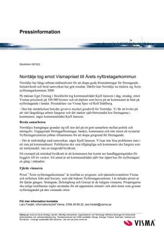 Norrtälje tog emot Vismapriset till Årets nyföretagarkommun