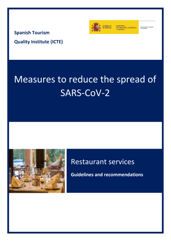 Restaurants guidelines covid19