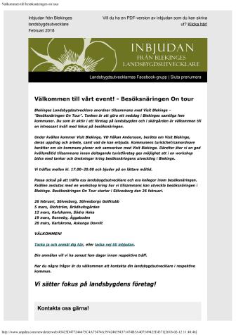 Pressinbjudan: Nu åker Blekinges landsbygdsutvecklare på turné igen!